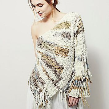 Unspun x Free People Womens Cumulus Off Shoulder Sweater