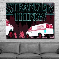Stranger Things Background Canvas Set