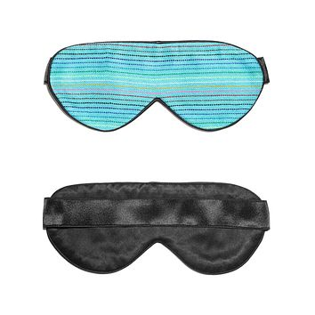 Light Blue Hand-Weaved Mexican Cotton Sleep Mask
