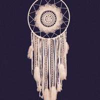 Large White Dream Catcher/ Handmade Dreamcatcher