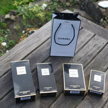 Chanel Coco 4 Empty Boxes and Gift Bag and Ribbon