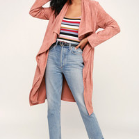 City of Trees Mauve Pink Suede Jacket