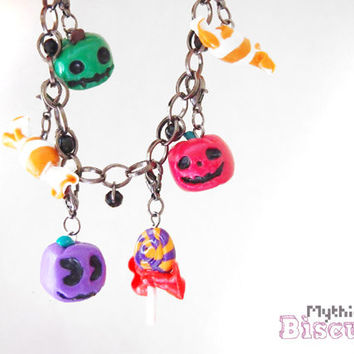 Animal Crossing - Halloween Gunmetal Charm Bracelet - Nickel and Leaf Free
