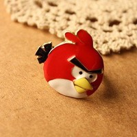 2012 new style Vintage Cute Angry Bird Cocktail Animal Ring new arrival