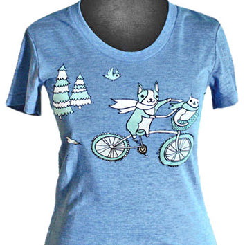 Bike Animals T-shirt (Vintage Blue)