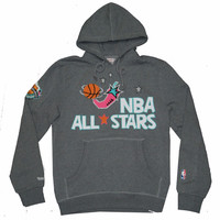 Mitchell & Ness 1996 NBA All Stars Chili Pepper Pullover Hoodie in Heather Grey