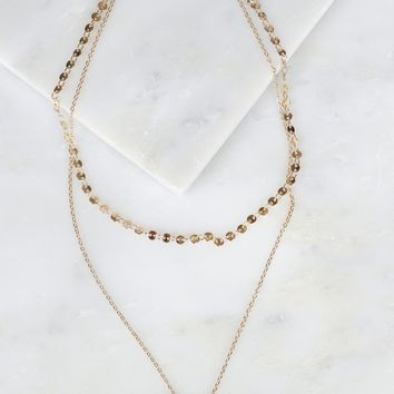 Layered Necklace Pearl