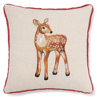 Deer Embroidered Cushion | M&S