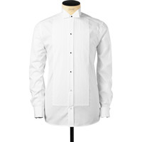 White Plissé Evening Shirt - Black Ribbon - Evening Wear - Shirts - Products  | Eton Online