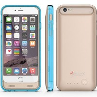 iPhone 6S Battery Case, iPhone 6 Battery Case, Alpatronix® [BX140] MFi Apple Certified 3100mAh External iPhone 6S/6 Battery Case Removable Rechargeable Protective iPhone 6s/6 Charging Case [Ultra Slim Portable iPhone6 Charger Case / Full Support with iOS 9
