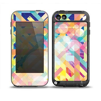 The Colorful Abstract Plaid Intersect Skin for the iPod Touch 5th Generation frē LifeProof Case