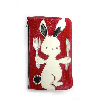 White Rabbit Pencil case by scotatto on Etsy