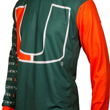 NCAA Men's Adrenaline Promotions Miami Hurricanes MTB Cycling Jersey