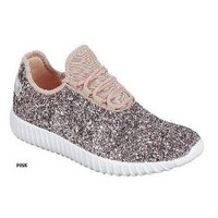 Pink Sparkly Sneakers