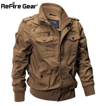 Trendy ReFire Gear Military Pilot Jackets Men Winter Autumn Bomber Cotton Coat Tactical Army Jacket Male Casual Air Force Flight Jacket AT_94_13