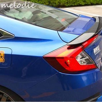 DCCKFS2 Different colors painted ABS Car Rear Trunk Spoiler Wing For HONDA Civic 10 2016 2017, without stop light