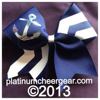 Nautical Bow - Platinum Cheer Gear