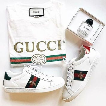 Gucci:Trending Fashion Casual Sports Shoes+T-shirt