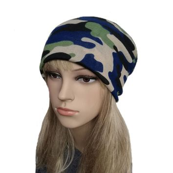 Camouflage Hats for Women - Trendy Fabric Camo Beanie
