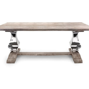 Reclaimed / Distressed Wood & Metal Dining RoomTable