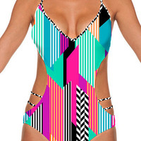 B Swim Skycastle - Back It Up Monokini One Piece