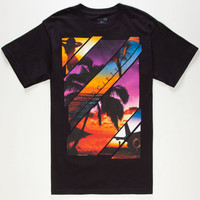 Fly Society Spring Break Mens T-Shirt Black  In Sizes