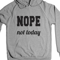 Nope Not Today-Unisex Heather Grey Hoodie