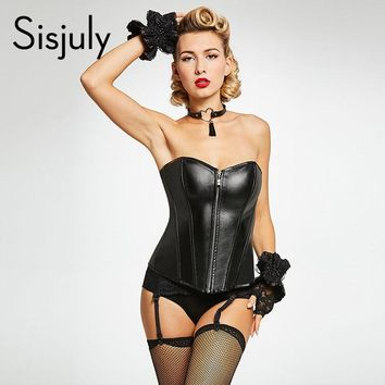 Women Sexy Corsets Plain Black Striped Zipper Corsets Girl Party Sexy Strapless Lace Up Polyester Women Corsets