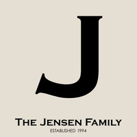 Our Family Monogram/Initial  Family Name Print with by karimachal