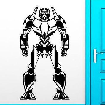 Wall Sticker Vinyl Decal Robot for Kids Room Baby Nursery Child Decor Unique Gift (ig2251)