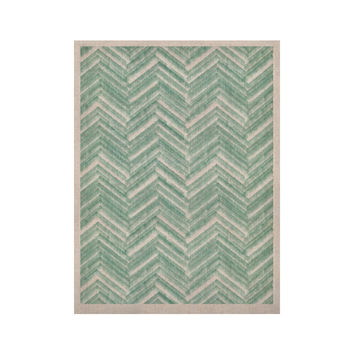 """Heidi Jennings """"Painted Chevron"""" Teal Green KESS Naturals Canvas (Frame not Included)"""