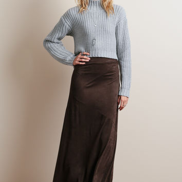 Sidesaddle Faux Suede Skirt