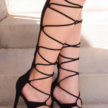 Vanessa Lace Up Gladiator Heels