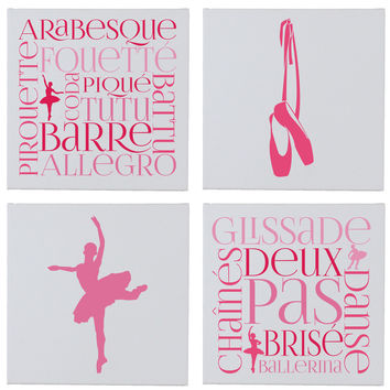 BalletWall Canvases - Set of 4