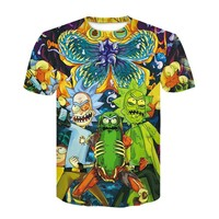 2018 summer Fashion t-shirt Cartoon Rick and Morty 3d Print Men/women T shirts Hip hop Tee shirts