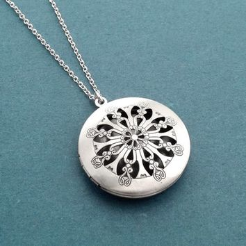 Vintage style, Diffuser, Locket, Photo, Silver, Necklace, Birthday, Best friends, Sister, Gift, Jewelry