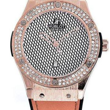 Hublot men and women trendy fashion quartz watch F  Khaki