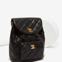 Vintage Chanel Quilted Leather Backpack