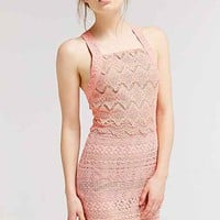 Ladakh Farrah Lace Dress- Coral