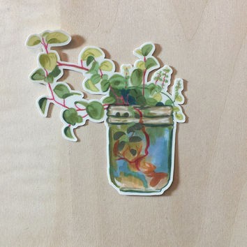 Plant Jar Vinyl Sticker