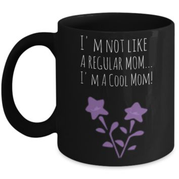 Mother's Day Morning Coffee Mug - Funny Sayings & Quotes Mom Gift for Her - Hot Cocoa, Milk, Cookies, Candy & Pencil Cup for Women & Mothers