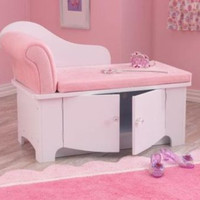 Pink Chaise Lounge Girls Bedroom Furniture Home Decor Storage KidKraft New