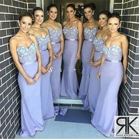 Sexy Mermaid Long Formal Evening Dress Women Pageant Party Prom Bridesmaid Gown