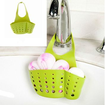 1 Pc Candy Colors Plastic Drain Baskets Garbage Bags Hanging box Kitchen Eco-friendly Storage Sink Kitchen Tool