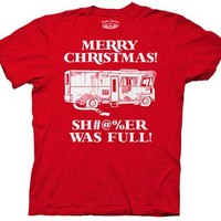 Christmas Vacation Merry Christmas Shitter Was Full Griswolds Adult T-shirt
