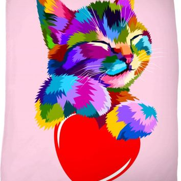 ROFB I Love Kitty Fleece Blanket
