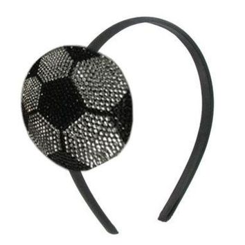 Sweet as Sugar Couture Sparkle Headband - Soccer