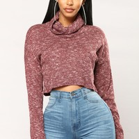 Favorite Knit Top - Burgundy