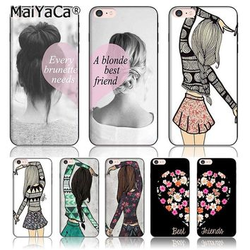 MaiYaCa BFF Best friends girly Colorful Phone case Accessories cover For iPhone5 5s 6 6s 7 7plus 8 8plus X Case couple case