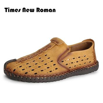 Summer Style Soft Men Loafers High Quality Artificial Leather Shoes Men Flats Driving Shoes